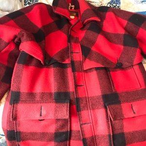 Mens wool and down coat